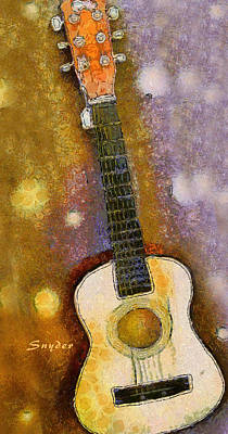 Photograph - Van Gogh Brown Starry Night Guitar by Floyd Snyder