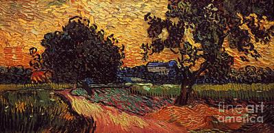 Van Gogh: Castle, 1890 Art Print by Granger