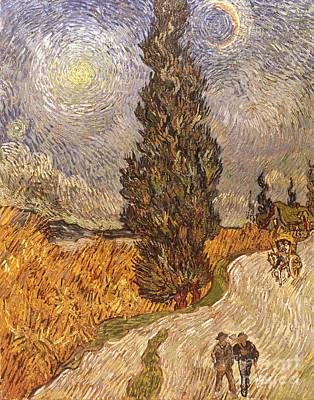 Photograph - Van Gogh: Cypresses, 1889 by Granger