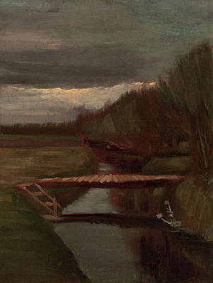 Painting - Van Gogh Ditch And Small Bridge by Vincent Van Gogh