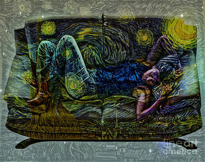 Lanscape Digital Art - Van Gogh Dreaming by Daniela Constantinescu