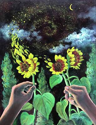 Painting - Van Gogh Dreams  Hands To Heaven Series by Randy Burns