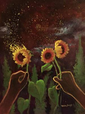 Painting - Van Gogh Dreams  Hands To Heaven Series by Randol Burns