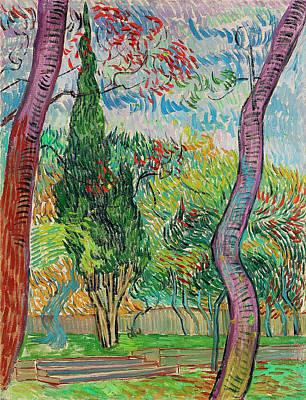 Painting - Van Gogh Garden Of Saint Paul Hospital by Vincent Van Gogh