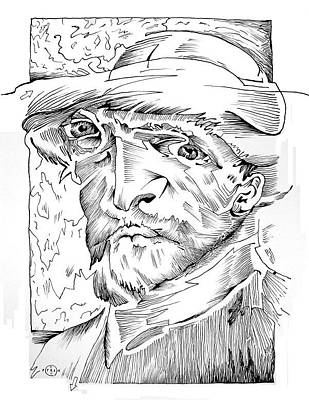 Maze Artist Drawing - Van Gogh by Gary Peterson