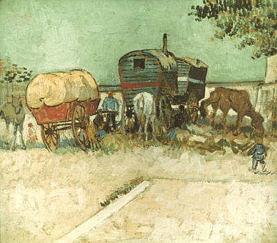 Gypsy Wagon Photograph - Van Gogh: Gypsies, 1888 by Granger