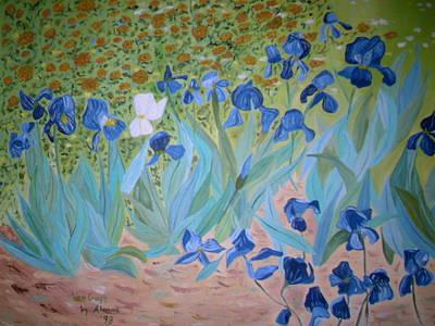 Painting - Van Gogh Iris By Alanna by Alanna Hug-McAnnally