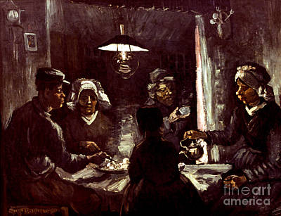 Photograph - Van Gogh: Meal, 1885 by Granger