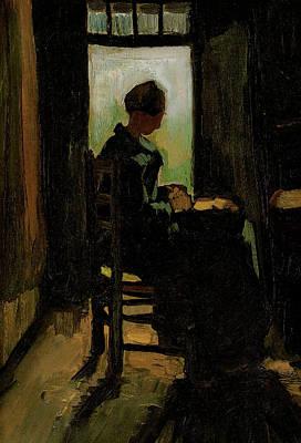 Painting - Van Gogh Peasant Woman Peeling Potatoes by Vincent Van Gogh