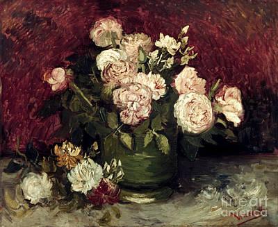 Photograph - Van Gogh: Roses, 1886 by Granger