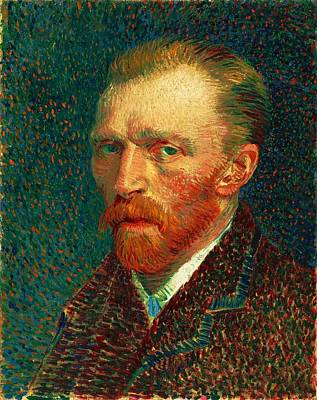 Cardboard Painting - Van Gogh Self Portrait by Pg Reproductions