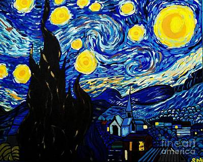 Van Gogh Starry Night  Original by Scott D Van Osdol