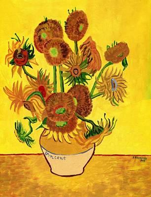Painting - Van Gogh Sunflowers by Jeff Blazejovsky