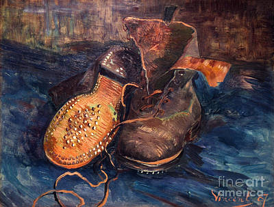 Photograph - Van Gogh: The Shoes, 1887 by Granger