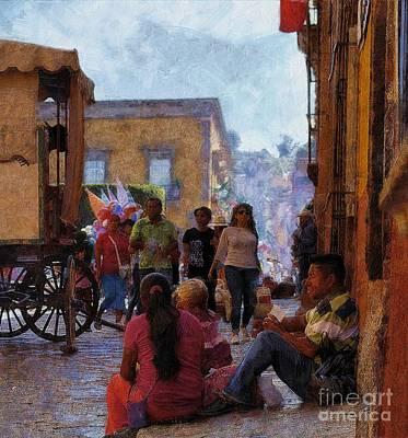 Van Gogh Visits Mexico Art Print by John  Kolenberg