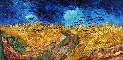 Van Gogh: Wheatfield, 1890 Art Print by Granger