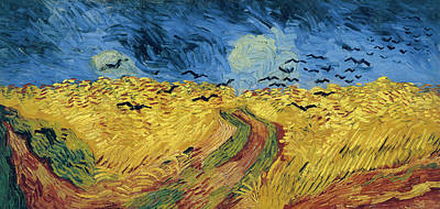 Education Painting - Van Gogh Wheatfield With Crows by Vincent Van Gogh