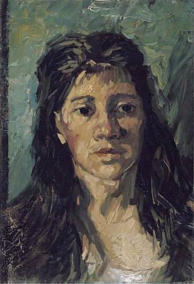 Painting - Van Gogh Woman With Hair Loose by Vincent Van Gogh