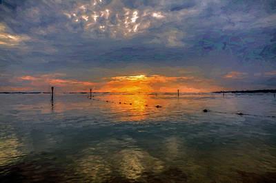 Photograph - Van Gogh Sunset by Jerry Gammon