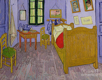 Bedside Painting - Van Goghs Bedroom At Arles by Vincent Van Gogh