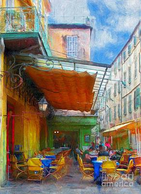 Photograph - Van Gogh's Cafe  by John Kolenberg