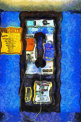 Van Gogh.s Pay Phone . 7d15934 Art Print by Wingsdomain Art and Photography