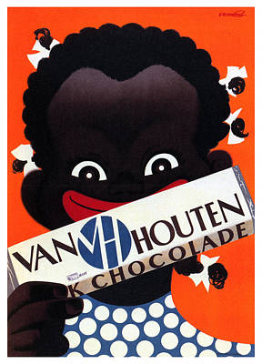 Mixed Media - Van Houten Chocolade - Frans Mettes - Vintage Advertising Poster by Studio Grafiikka