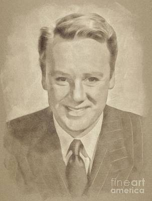 Musicians Drawings Rights Managed Images - Van Johnson, Vintage Actor by John Springfield Royalty-Free Image by Esoterica Art Agency