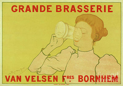 Food And Beverage Drawings - Van Velsen Belgian Beer by Aapshop