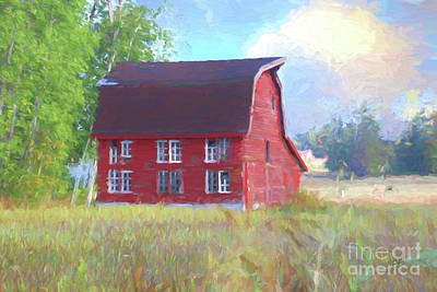 Wyck Digital Art - Van Wyck Barn by Cheryl Rose