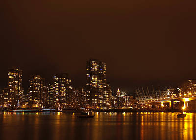 Photograph - Vancouver At Night by Barbara  White