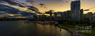 Vancouver At Night Photograph - Vancouver At Night by Viktor Birkus