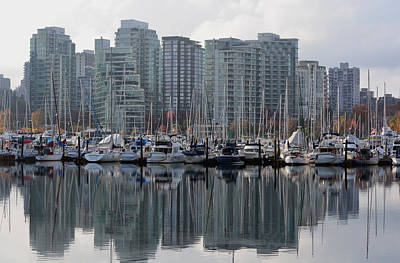 Vancouver Bc - Boats And Condos Art Print