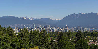 Photograph - Vancouver Bc City Skyline And Mountains View by David Gn