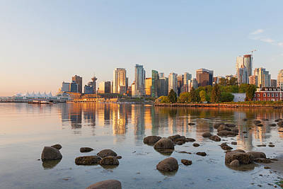 Holiday Mugs 2019 Royalty Free Images - Vancouver BC City Skyline Morning Royalty-Free Image by Jit Lim