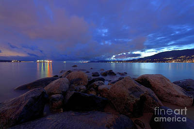 Photograph - Vancouver Bc - English Bay After Sunset by Terry Elniski