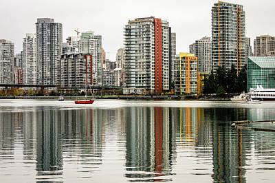 Photograph - Vancouver Bc Sky Line by Menachem Ganon