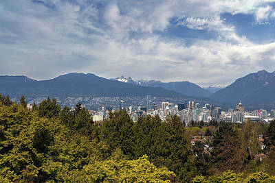 Vancouver Bc Skyline Daytime View Art Print by David Gn
