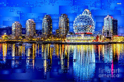 Digital Art - Vancouver British Columbia Canada by Rafael Salazar