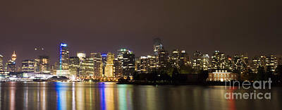 Photograph - Vancouver By Night by Louise Magno
