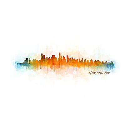 Urban Painting - Vancouver Canada City Skyline Hq V03 by HQ Photo