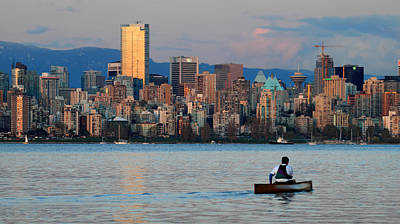 Canoes Photograph - Vancouver Canoe by Pierre Leclerc Photography