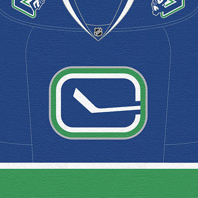 Vancouver Canucks Digital Art - Vancouver Canucks Secondary Jersey by Game On Images