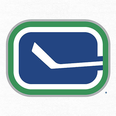 Vancouver Canucks Digital Art - Vancouver Canucks Secondary White by Game On Images