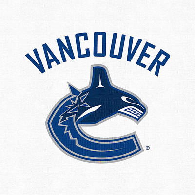Vancouver Canucks Digital Art - Vancouver Canucks White by Game On Images