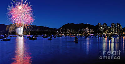 Photograph - Vancouver Celebration Of Light Fireworks 2015 - Brazil by Terry Elniski