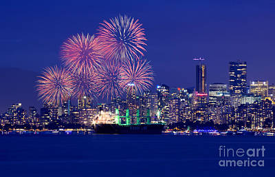Photograph - Vancouver Celebration Of Light Fireworks 2015 - China  by Terry Elniski
