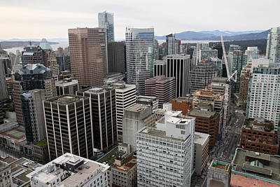 Photograph - Vancouver City From The Lookout by Pierre Leclerc Photography