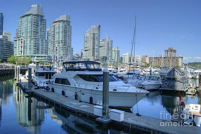 Photograph - Vancouver Coal Harbour 2 by David Birchall