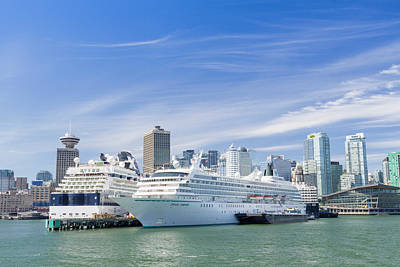 Photograph - Vancouver Cruise Ships by Ross G Strachan